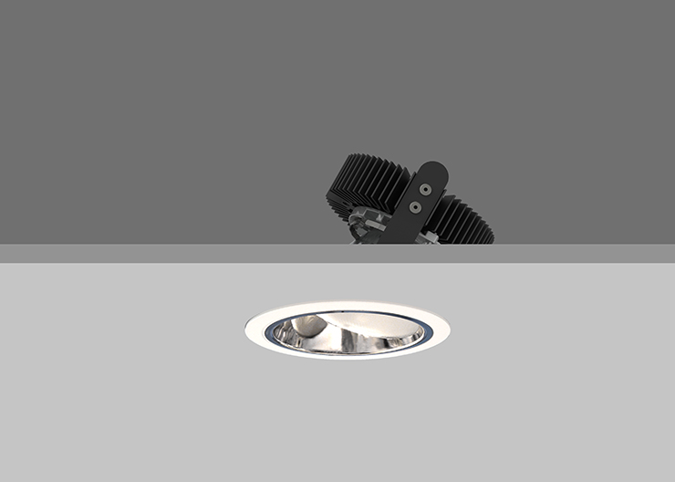 Ambiance X100  Lens Wallwasher - Specular Silver
